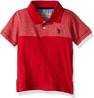 U.S. POLO ASSN. boys Marled Knit Twill Fashion Polo Shirt Polo Shirt