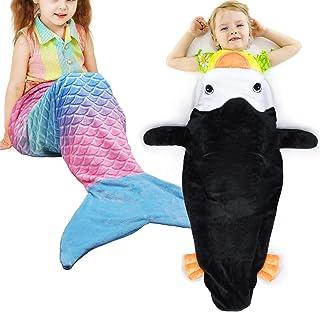 Monkey+ Nemo Gift Idea Super Soft Plush Flannel Sleeping Blanket for Girls Catalonia Kids Snuggle Tail Blanket
