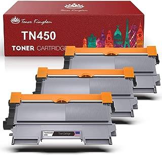 Toner Kingdom Compatible Toner Cartridges Replacement for Brother TN450 TN-450 TN420 for Brother HL-2240 HL-2270DW HL-2280DW MFC-7360N MFC-7860DW Printer(Black, 3-Pack)