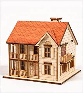 DESKTOP Wooden Model Kit Western House 1 by Young Modeler