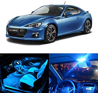 SCITOO 11Pcs Ice Blue Interior LED Light Package Kit Replacement Bulbs Fits for Subaru BRZ 2013-2017