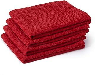 Encasa Homes ściereczki do naczyń X-Large 70 x 45 cm (zestaw 4-częściowy), bardzo chłonne ręczniki do teatów o strukturze ...