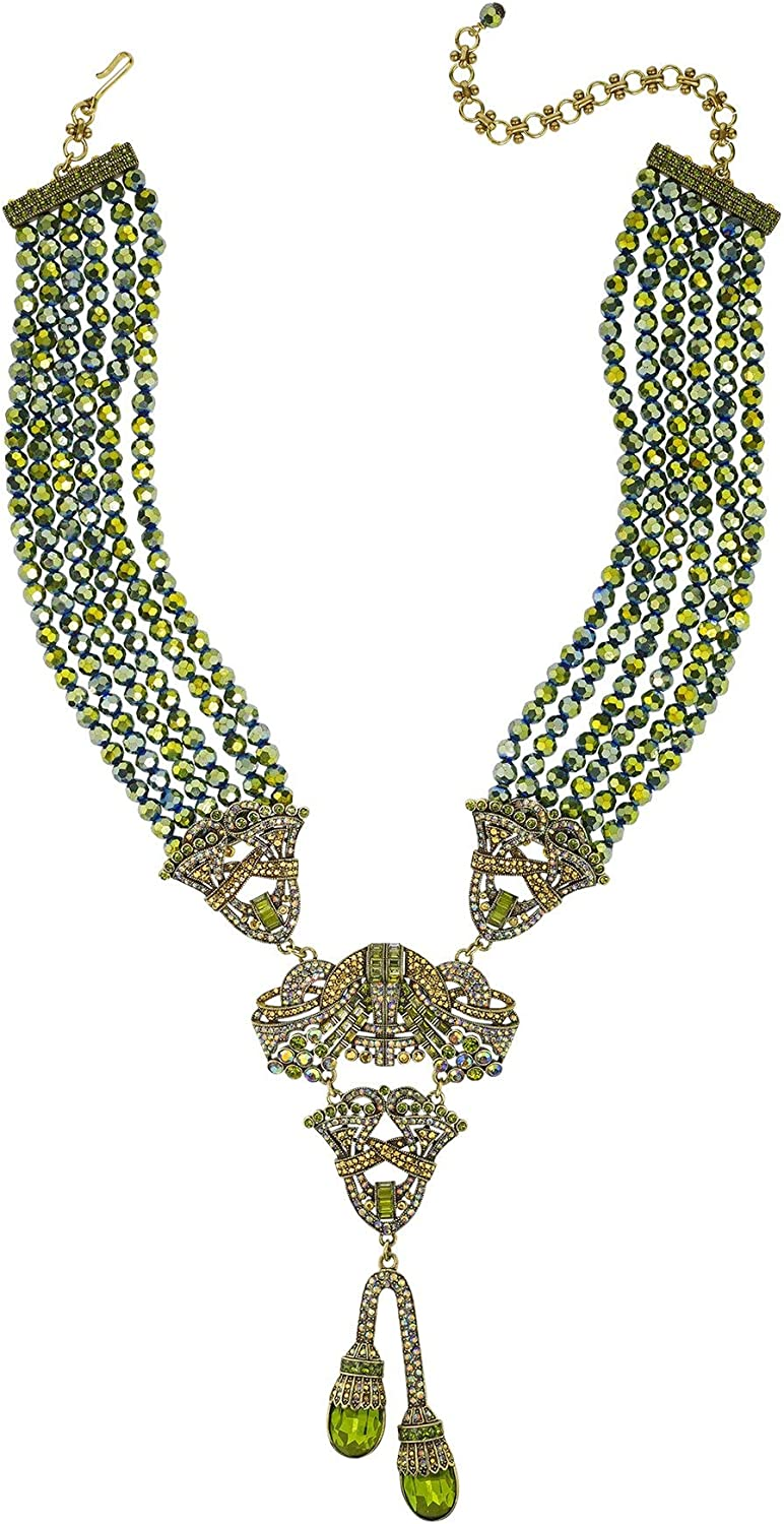 Heidi Daus Duo Drop Crystal Accented Necklace SWAROVSKI SOLD OUT
