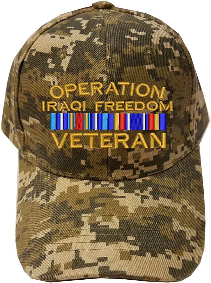 MILITARY Operation Iraqi Freedom Veteran Digital Camo Baseball Cap Hat