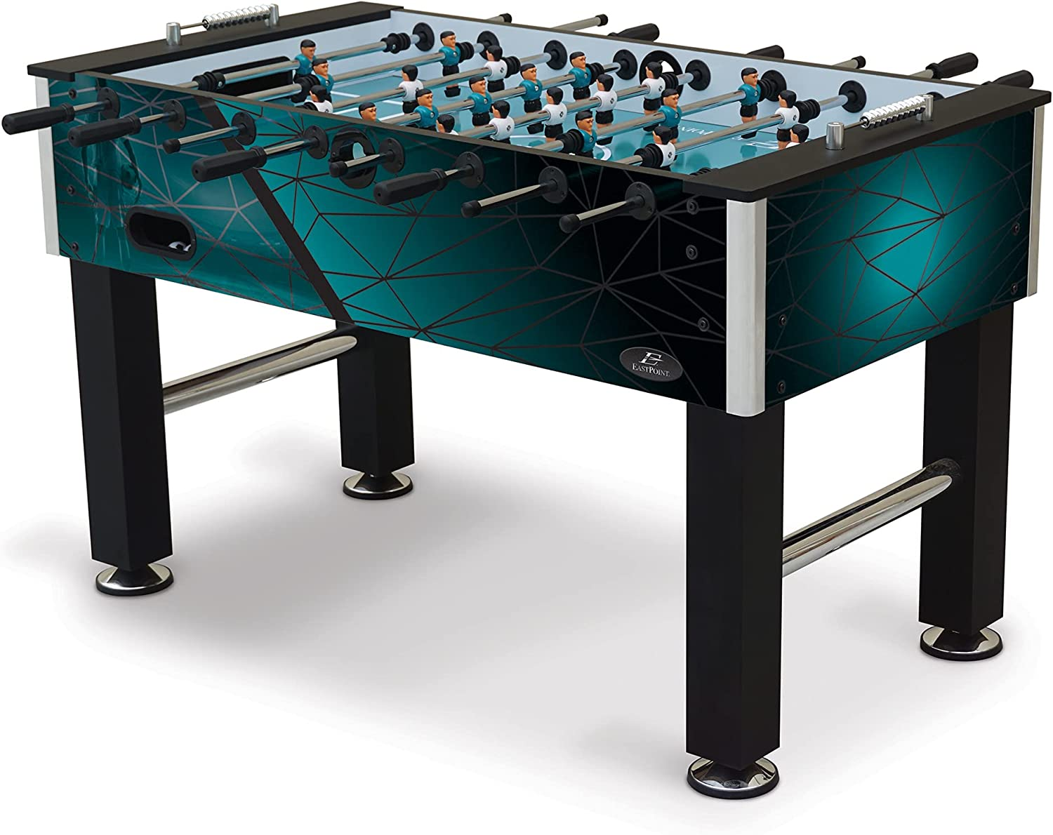 EastPoint Sports Official Competition Size Deluxe Foosball Table for Multiplayer Indoor Play - Includes 4 Foosball Balls – Great for Your Basement, Garage, Family Game Room, Man cave, or Living Room : Sports & Outdoors