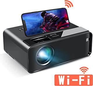 ELEPHAS 小型 Wifiプロジェクター スマホと直接接続可 LED 4600lm 1920×1080最大解像度 内蔵スピーカー* 2 スマホ/パソコン/タブレット/ゲーム機/DVDプレイヤー/USB接続可 HDMI/AVケーブル付属 【2020最新版】