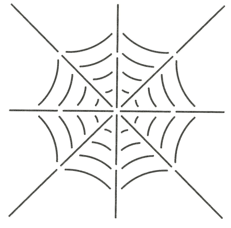 Quilting Creations Spider Web Quilt Stencil, 8 x 8