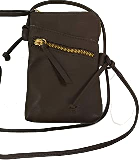 37611fee57e Monahay Small Italian Leather Cross Body Mobile Phone and Passport Travel  Pouch Bag MH9723