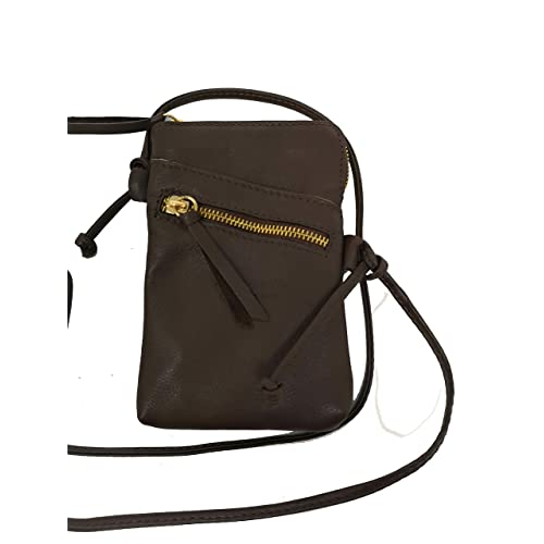 900743762e31 MONAHAY Small Italian Leather Cross Body Mobile Phone and Passport Travel  Pouch Bag MH9723