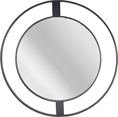 "Sagebrook Home 14101 Metal Frame 36"" Wall Mirror, Black Wb"