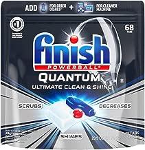 Finish - Quantum - 68ct - Dishwasher Detergent - Powerball - Ultimate Clean & Shine - Dishwashing Tablets - Dish Tabs