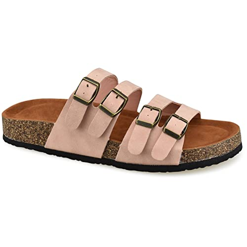 89e747ce5d7d Premier Standard Women s Comfort Low Easy Slip On Sandal – Casual Cork  Bottom Platform Sandal Flat
