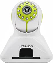 iZtouch IZSP-006 Green 1280x720P HD H.264 Wireless/Wired IP Camera with Two-Way Audio IR-Cut Filter Night Vision Pan/Tilt Control QR Code Scan Phone Remote Monitoring Supported