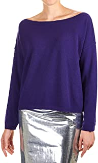 MANILA GRACE Luxury Fashion Womens M213WUMD688 Purple Jumper |