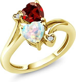 1.98 Ct Oval Simulated Opal 18K Rose Gold Plated Silver Criss Cross Ring