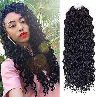 (6Packs)12inch Curly Faux Locs Soft Hair Twist Braids Crochet Braiding Hair Braids Mambo Hair Extension 24Roots/Pack (12inch, 1B)