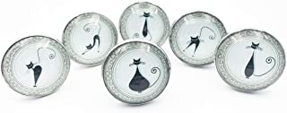 Set of Kitty Cat Themed Drawer Pulls, Cabinet Pulls, Dresser Knobs - Set of 6 Knobs
