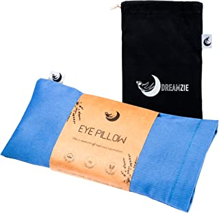 Lavender Eye Pillow 2-in-1 - Eye Pillow for Sleeping - Microwaveable Weighted Eye Pillow - Meditation and Relaxation Gift...
