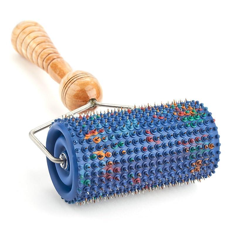 コンパスオセアニア転用LYAPKOビッグローラーマッサージャー5.0 シルバーコーティング 指圧570針使用。体の広範囲のマッサージ用。ユニークなアプリケーター治療 セルフ ダイナミック マッサージ ツール Big Roller Massager Acupuncture Applicator