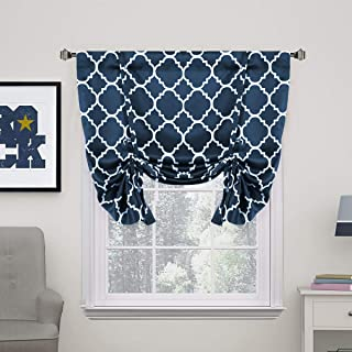 H.VERSAILTEX Thermal Insulated Blackout Curtain - Tie Up Balloon Shade for Small Window (Rod Pocket Panel, 42