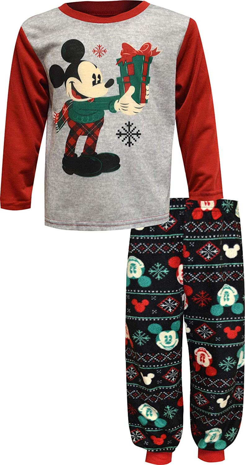 Briefly Stated Boys' Mickey Mouse Toddler Christmas Jogger Style Pajama