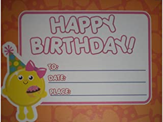 Happy Birthday Certificates - Yellow Smiley Face - Pack of 24
