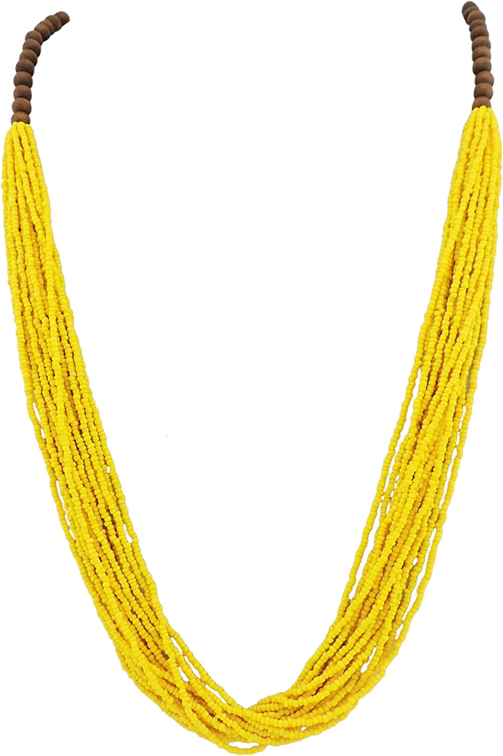 BOCAR Long Multiple Row Handmade Beaded Statement Necklace with Gift Box (NK-10407)