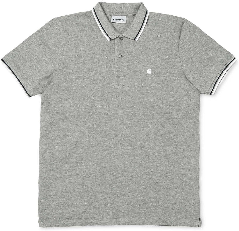 Carhartt WIP Herren Venice Poloshirt, grau, S EU