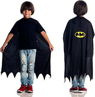 Capa Batman Infantil Sulamericana Fantasias Preto Único