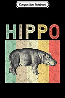 Composition Notebook: Vintage Hippo Hippopotamus Cute Animal Lover Gift Journal/Notebook Blank Lined Ruled 6x9 100 Pages
