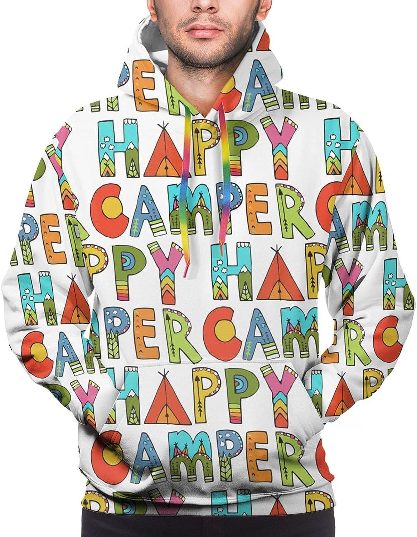 Hoodie For Teens Boys Girls Happy Camper Double-Sided 3d Sweatshirt Hoodie