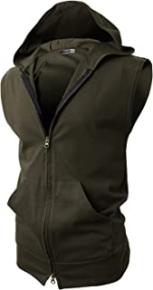 Best dark green sleeveless hoodie Reviews