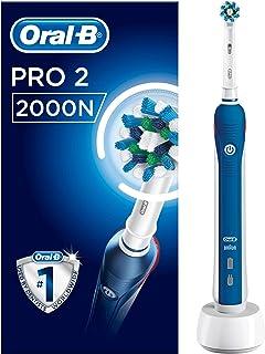 Oral-B 博朗欧乐B Pro 2000 CrossAction电动充电牙刷 深蓝色 - 英国版 单只刷?#39134;?#34013;色