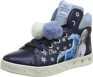 Geox J SKYLIN GIRL C meisjes sneakers.