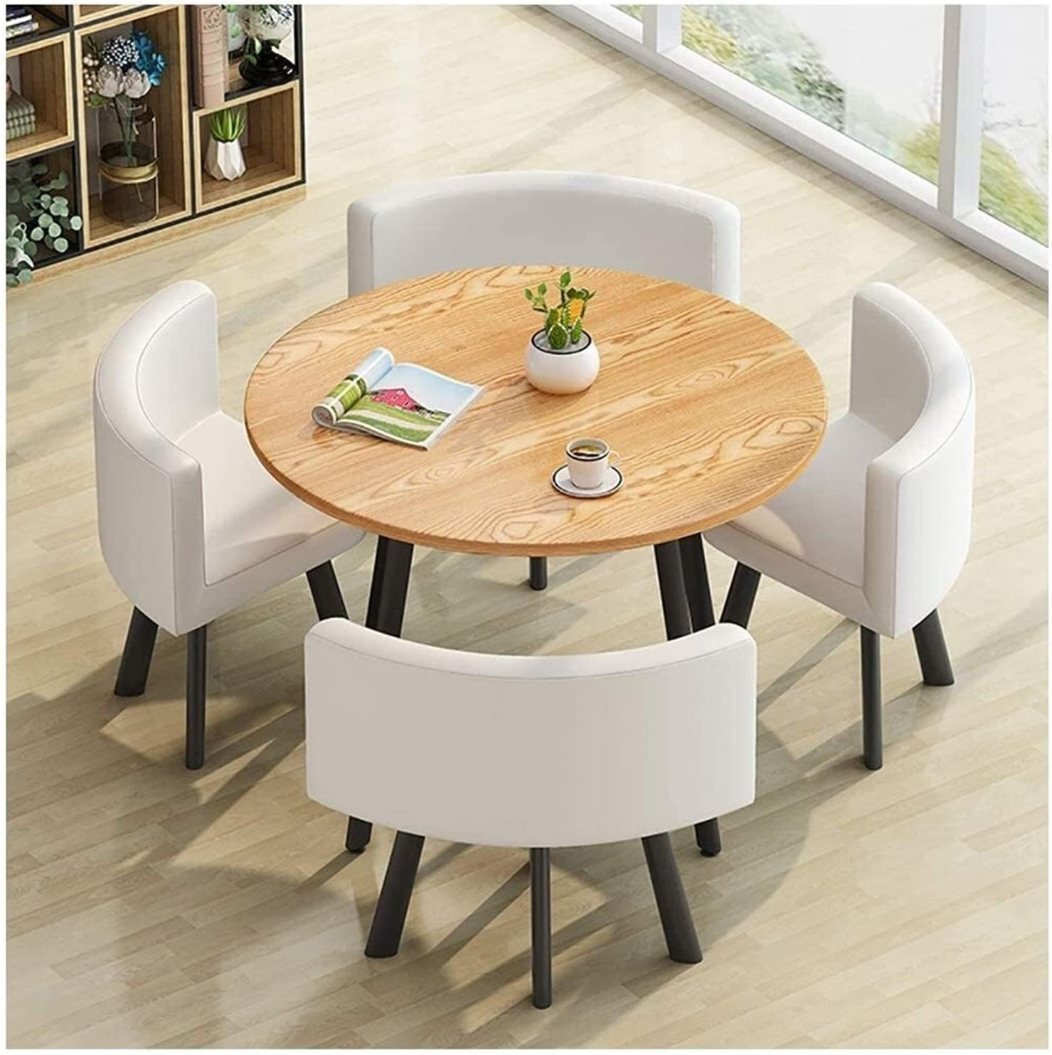 Modern Furniture Dining latest Room 40% OFF Cheap Sale Set Home Table Chair and Com Round