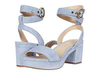 COACH Serena Sandal (Bluebell Suede) Women