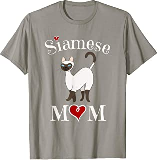 Adorable Siamese Mom T-Shirt, Funny Siamese Cat Mom Gift