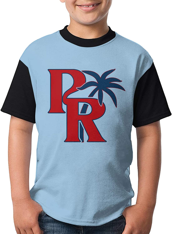 Puerto Rico Cute Boys' Girl's Colorado Springs Max 72% OFF Mall Short Sleeve S Shirt Fashion