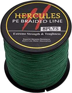 HERCULES PE Fishing Line 500m(547yards) -10lb to 300lb - 8X Strands - 15 Colors Available
