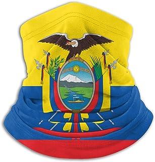 Lsjuee Bandiera dell'Ecuador Bandane unisex Sciarpa Fascia per capelli Passamontagna Antivento Antipolvere Copricapo Ghett...