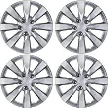 """BDK KT-1042- amking1 Silver Hubcaps Wheel Covers for Toyota Corolla 16"""" – Four (4) Pieces Corrosion-Free & Sturdy – Full Heat & Impact Resistant Grade – Replacement, 4 Pack"""