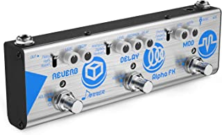 Donner Mini Effect Chain Alpha FX Guitar Effect Pedal Modulation, Delay and Reverb Effects