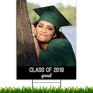 Custom Full Color Graduation Portrait Yard or Lawn Sign 18x24
