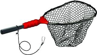 "EGO Fishing Net, Kayaking & Wading Design, Floating Net, Salt & Freshwater, Non-Slip Grip, Kayak Tool, Aluminum Clip on Tether, 11"" Handle"