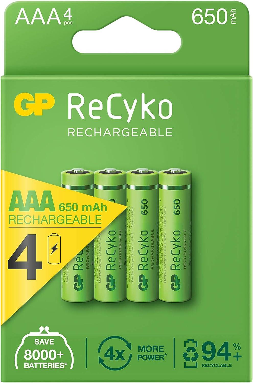 4 pilas recargables GP ReCyko por sólo 6,71€