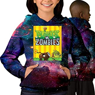 Plants-vs-Zombies_ Free Fashion Cotton Teen Starry Sky with Pocket Sweater