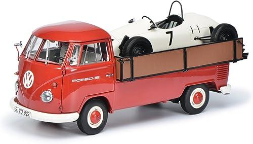 Schuco 450037100 - Modellauto Set  VW T1B Porsche  mit Formel Vau Rennwagen 1 18