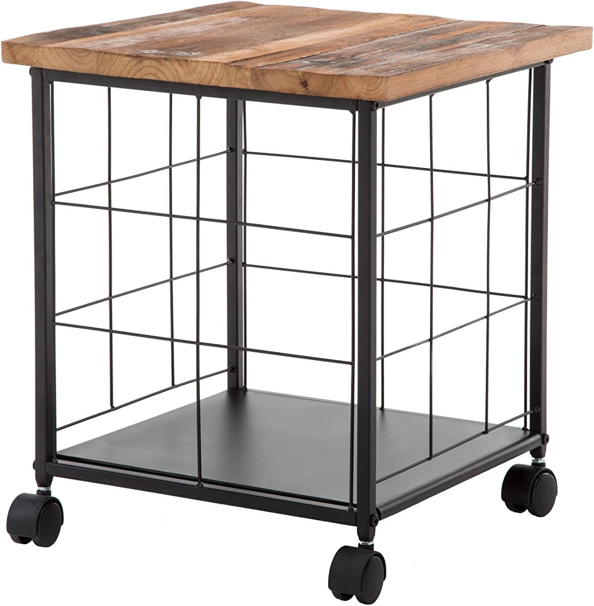 Belmont Home Fencott Reclaimed Rapid rise File Wood Super sale period limited Rolling Cabinet