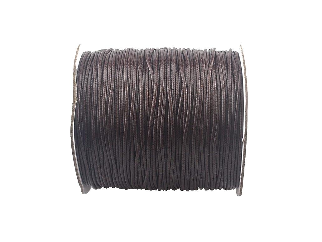 QIANHAILIZZ 200 Yards 1.5 mm Waxed Jewelry Making Cord Waxed Beading String Craft DIY Thread (Coffee)