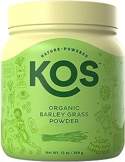 KOS Organic Barley Grass Powder - Non-GMO, Raw Barley Grass Powder - Fiber Rich, Antioxidant Heavy USDA Organic Plant Based Ingredient, 369g, 118 Serving